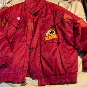 Redskins Coat with tucked hood